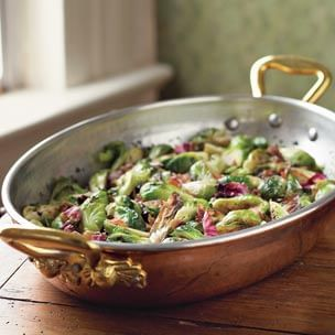 Brussels Sprouts with Radicchio & Pancetta