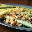 Leeks with Buttered Bread Crumbs