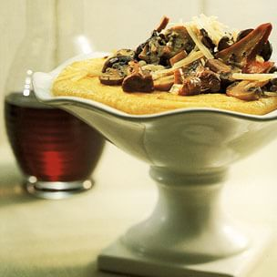 Polenta with Mushrooms and Cheese