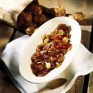 Jerusalem Artichokes with Bacon and Balsamic Vinegar