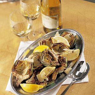 Pan-Roasted Artichokes with Garlic and Lemon