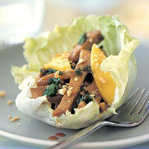 Pork & Mango Lettuce Wraps