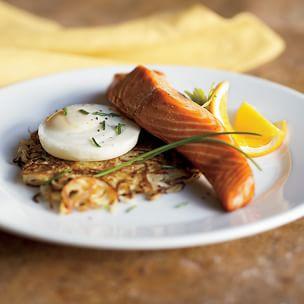 Potato Latkes with Hot-Smoked Salmon