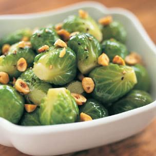 Brussels Sprouts with Toasted Hazelnuts