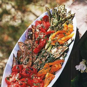 Grilled Vegetable Platter with Picnic Vinaigrette