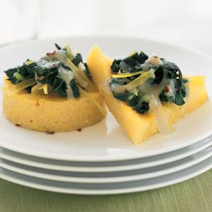 Polenta Galettes with Leek & Swiss Chard | Williams-Sonoma