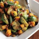 Brussels Sprouts & Butternut Squash with Bacon Vinaigrette