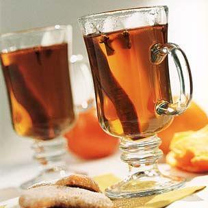 Hot Spiced Cider with Calvados