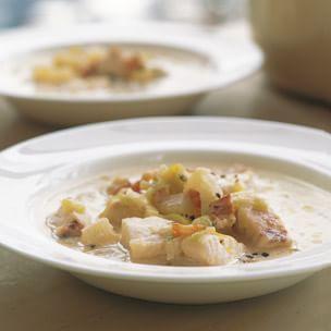 Creamy fish chowder williams sonoma for Creamy fish soup recipe