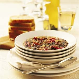 Oven-Dried Tomato and Lentil Soup