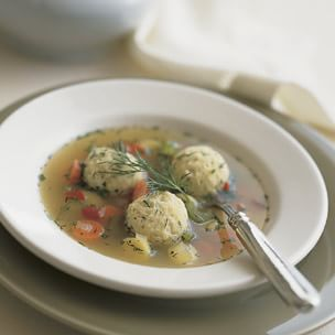Chicken-Vegetable Soup with Herbed Matzo Balls
