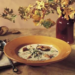 Wild Rice and Wild Mushroom Soup