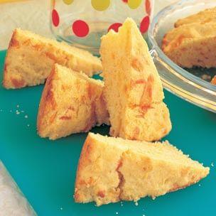 Cheddar Corn Bread Wedges