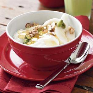Greek Yogurt with Pears and Honey