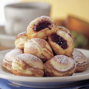 Cherry Jam-Filled Pancakes