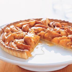Roasted Apricot & Vanilla Tart