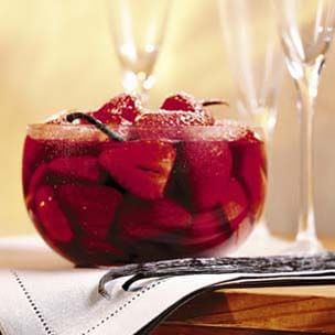Strawberries in Red Wine with Vanilla Bean