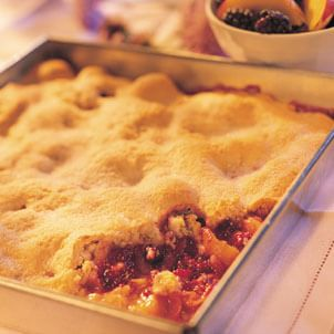 Nectarine-Blackberry Cobbler