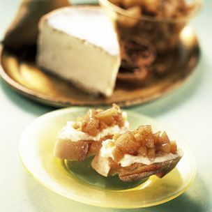 St.-André Cheese with Ginger Pears