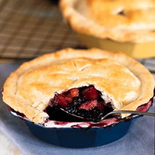 Wild Blueberry-Peach Pies