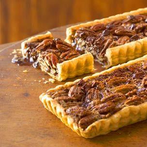Chocolate-Pecan Tarts