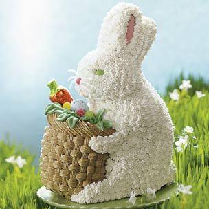 Furry Bunny with Basket Cake