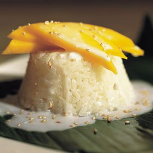 Sweet Rice with Mangoes