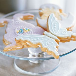 Coconut Shortbread Cookies with Creamy Butter Frosting