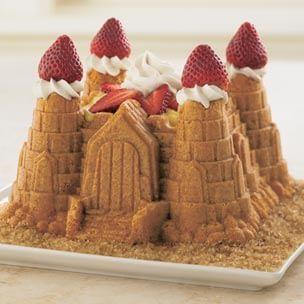Vanilla Sandcastle Cake