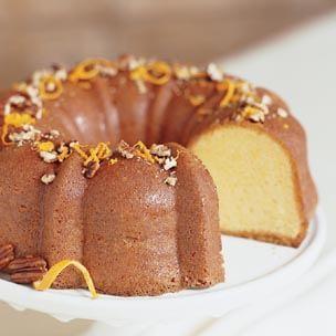 Orange Cake with Apricot Glaze