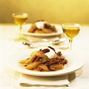 Honey-Pecan Roast Pears