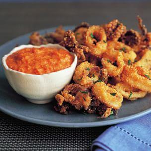 Fried Calamari with Romesco