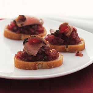 Red Onion Marmalade & Pork Canapés