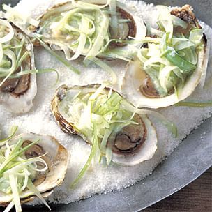 Oysters on the Half Shell with Apple-Horseradish Slaw Img11l