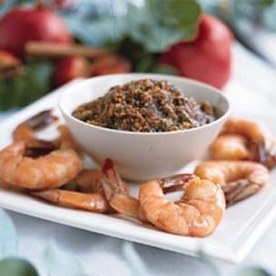 Poached Shrimp with Toasted Sesame-Ginger Sauce