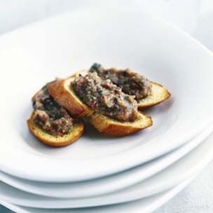 Bruschetta with Eggplant Caviar