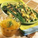 Curried Crab Salad with Mango-Mojo Sauce