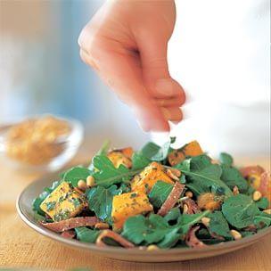 Arugula, Squash & Salami Salad