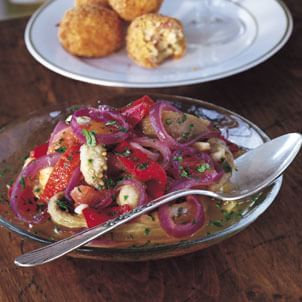 Eggplant Salad with Onions and Peppers (Escalivada)
