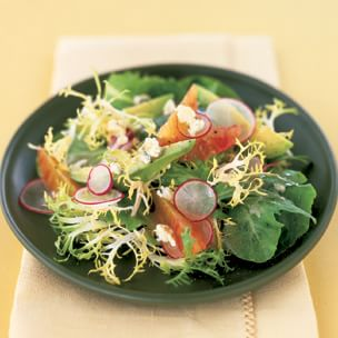 Mesclun Salad with Radishes, Avocado and Blood Oranges