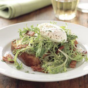 Frisée Salad with Lardons and Brioche