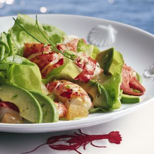 Lobster and Butter Lettuce Salad