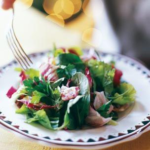 Arugula, Radicchio and Escarole Salad