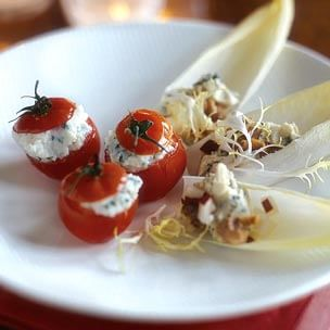 Endive with Gorgonzola, Pear and Walnuts