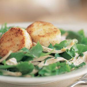 Warm Goat Cheese & Chicken Salad