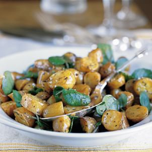 Roasted Potato Salad with Watercress and Balsamic Vinaigrette