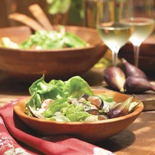 Fig Salad with Cabrales Cheese and Marcona Almonds