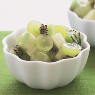 Kiwifruit, Apple & Grape Salad with Rosemary Syrup