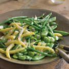 Mixed Garden Bean Salad with Shallots