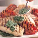 Grilled Halibut with Arugula Pesto